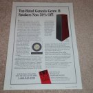 Genesis Genre II Speaker Ad, 1994, Article, Specs, RARE
