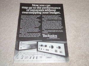Technics Ad,1978, SU-7100 Amplifier,ST-7300 Tuner