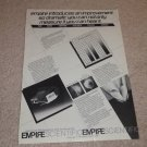 Empire 1000gt,900gt Cartridge Ad, 1980, Articles