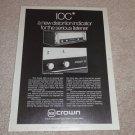 Crown IOC,D150a Amplifier Ad, 1978,Article, Rare Ad!