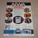 Aiwa Mini System Ad,I,II,III,IV,V,Specs,Info,RARE!