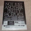 Teac R-555 Cassette Ad, 1984,Article, RARE AD!