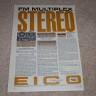 Eico Rp100 Open Reel,ST96,ST70 Amp Ad,1962,Specs,Articl