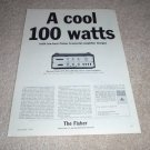 Fisher TX-3000 Amplifier AD from 1964, specs, article