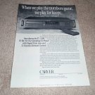 Carver TL-3300 CD Player Ad from 1988, Article