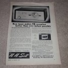 HH Scott 311 Fm Tube Tuner Ad,1955,Article, specs,RARE!