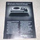 Technics SL-1000MkII Turntable Ad, 1977,Article, RARE!!