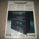 SAE TWO Ad from 1978,preamp,tuner,amp,cassette