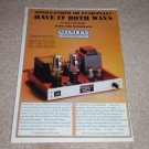 Manley Tube 300B triode Mono Amp Ad, 1995, Article