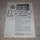 Kenwood Ad, 1972, KT-5000 Tuner, KA-5002 Amp, Specs