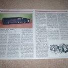Tandberg TCA 3008a Preamp Review, 2 pgs, 1985, RARE!