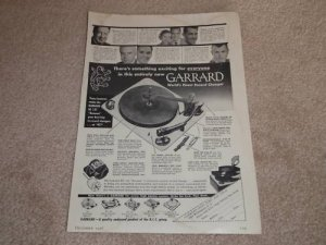 Garrard RC 121 Turntable Ad, 1956, Articles, 1 page