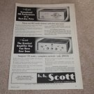 Scott Ad, 1956, 311 Tuner, 99-B Amp, Specs, Articles