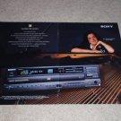 Sony ES Ad, CDP-C801es CD Player Ad, 2 pgs, 1994, Nice!