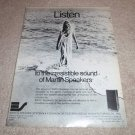 MArtin Speaker System Ad from 1972, very rare!