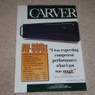 Carver AV-806x Amplifier Ad,Specs, Frame it! 1996