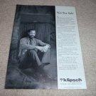 Klipsch Klipschorn Ad from 1988, Mint! Article