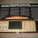 Pioneer Vintage Ad from 1982 Sx-7 Receiver,Computer Age