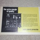 """Audio Research SP-3 Preamp Ad,Article,6""""x9"""", Tube"""