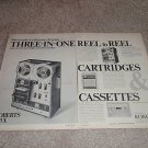 Roberts Open Reel Deck,threesome! Cass,8 trk Ad fr 1970