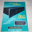 Polyfusion Audio 860 Amplifier Ad, Beautiful! 1995