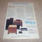 Bose 901 Series VI Speaker brochure,3 pages,mint 1988