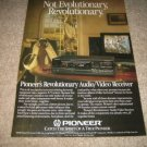 Pioneer VSX-5000 Receiver Ad from 1988,Audio Video