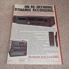NAD 6300 Cassette Ad, 5300,4300,3300 Amp,Tuner,CD 1988