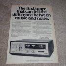 Harman Kardon Citation 14 Tuner Ad, 1972, Article,Rare!