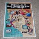 California Games Epyx Ad, 1988, Article, Rare Ad!