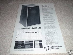 ADC XT-10 Speaker AD from 1973