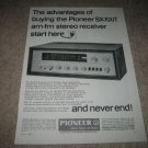 Pioneer SX-700t Vintage Receiver Ad from 1968,specs!