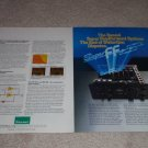 Sansui AU-D11,D9 Amplifier Ad,2 pgs,specs,inside view