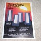 Apogee Acoustics Diva,Duetta,Signature Ad, 1988