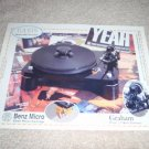 Musical Surroundings Basis Turntable Ad from 1998