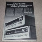 Pioneer SX-828,727 Receiver Ad,1974,Specs,Article