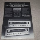 Pioneer SX-626,525 Receiver Ad, 1972, Specs, Article