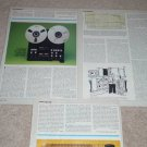 TANDBERG TD 20a-SE Open Reel Review,1982,3 pgs,Original
