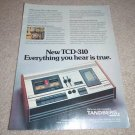 Tandberg TCD-310 Cassette Deck Ad from 1974, color