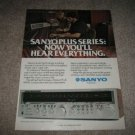 Sanyo Receiver Ad from 1979,Plus 75 color,mint!
