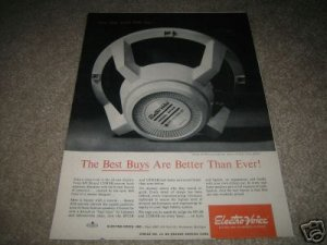 Electro-Voice SP12B Speaker Ad from 1968
