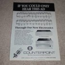 Counterpoint SA_220,SA-3000 Tube Audio Ad, 1989,Nice!