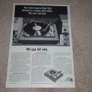 Dual 1019 twin-tonearm Turntable Ad, 1966,Article, RARE
