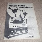 Teac A-7030u Pro Deck Ad from 1970,AMAZING!