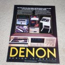 Denon DCD-1800 CD Player Ad,1984, Article, Nice Ad!