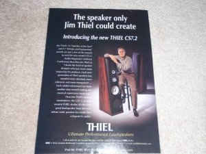 Thiel Speakers Ad, 1998, CS 7.2, Article, Jim Thiel