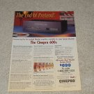 Cinepro 600x Amplifier Ad, 1995, Specs, Info, Article