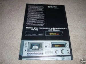 Technics RS-m44 Cassette Deck Ad from 1979