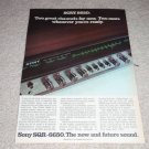 Sony 6650 Receiver QUAD Ad,1973,Article,color, Nice!