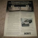 Sony VFET Amps Ad from 1975,high-end! color